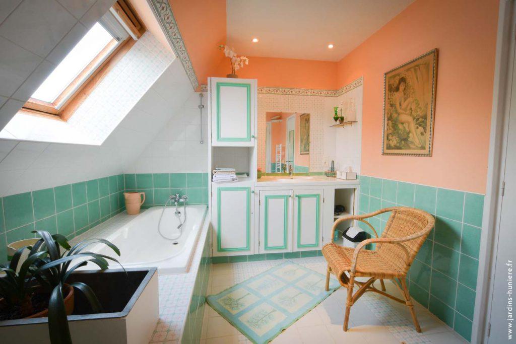 salle bains gite chambre hotes lisieux
